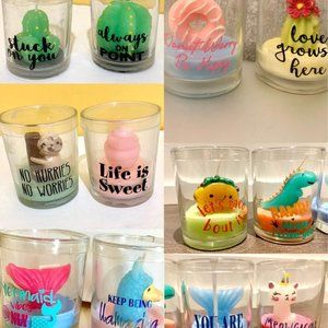 Assorted Cute animal plant candles new